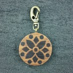 wooden inlaid charm IH-017-WT
