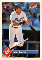 MLBカード 93DONRUSS Mike Piazza #209 DODGERS
