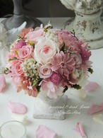 ローズガーデン/スウィートピンク/プリザーブドフラワーギフト/結婚祝い・お誕生日祝い【即日発送】【お届け日指定】