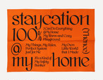「STAYCATION」ファブリックポスター