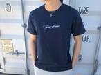 ThreeArrows刺繍メッセージTシャツ(navy)