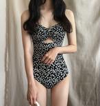 水着 モノキニ ワンピース水着 レディース 花柄 体型カバー 着痩せ 大人可愛い セクシー 韓国 オルチャン ファッション