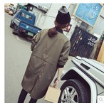 Korean Plus Size Loose Student Baseball Trench Army Green Coats Women Spring Outwear Clothing 450
