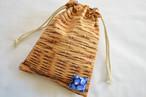 ポンっと入れてバッグの中をすっきりお片付けシンプルが使いやすい・巾着袋 バスケット ブルーベリー 果実