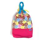 大きな巾着袋 体操袋・給食袋×ドーナツ柄MIX-両ひも・持ち手付き 入園グッズ 入学準備