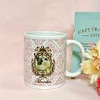 """<期間限定10%オフ (3月末まで)>オーダーメイドのうちの子の写真で作るマグカップ""""Victorian""""ピンク"""