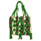 Mexico Wool Bag _02(メキシコ ウール ポンポン フリンジ ハンモック バッグ)