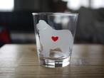 グレートピレニーズ彫刻グラス(ハート&クローバー)