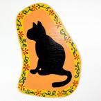 猫ちゃんウッド壁掛け(黒猫)