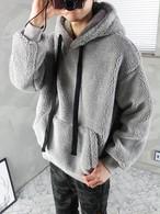 (MENS)もこもこフードトレーナー  トレーナー フードトレーナー メンズ メンズトレーナー 韓国ファッション