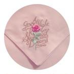 Good Night Rose刺繍ハンカチ