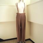 【hippiness】cupro suspender pants(brown)/ 【ヒッピネス】キュプラ サスペンダー パンツ (ブラウン)