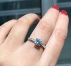 モアサナイト ダイヤモンド 4爪 リング プラチナ