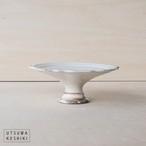 [古谷 浩一]彫刻コンポート皿 13cm(粉引)