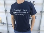ThreeArrowsロゴ Tシャツ(navy)