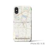 【武蔵境】地図柄iPhoneケース(バックカバータイプ・ナチュラル)