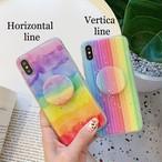 【オーダー商品】グリップ付き Rainbow Phone Case