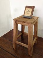 数量限定 BB-S ベンチ ラフな作りが魅力の屋台の椅子 スツール 木製 椅子 ウッドチェアー フラワースタンド