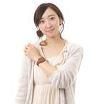 """触感時計""""タックタッチ"""" 腕時計型 振動の数で時刻がわかる シック・ブラウン"""