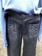 side zip cotton pants