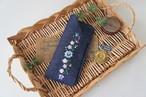 刺繍のメガネケース(デニム・クレッセント)