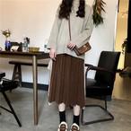 【bottoms】3色展開スカート無地シンプル定番