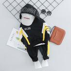【子供服】カジュアルアルファベットプリントパーカー/ルーズボーイズパンツ2点セット22294345