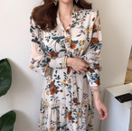 vintage long dress 2color