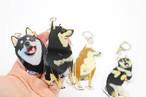 【かわいい】リアルでアートな柴犬アクリルキーホルダー