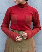 (PAL) turtle neck rib knit
