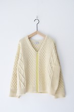 【ORDINARY FITS】CABLE KNIT ZIP CARDIGAN/OF-N014