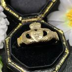 【限定SALE】6/24(金)までお値下げ中‼️ イギリス クラダリング 1970年代ヴィンテージリング K9 指輪