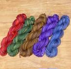 むら染手紡ぎ毛糸 コリデール 5色からお選びください(Poko47-1) (手編み糸&手織り糸)