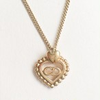"""Dior"" heart necklace[n-232]"