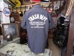 TRASH DEPT オリジナルワークシャツ / 半袖 チャコール
