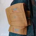 正絹 琥珀色の洒落袋