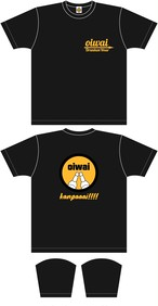 Tシャツ Black×Orange