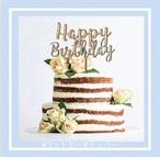 ウッドケーキトッパー  誕生日 ケーキトッパー  プレゼント オーガニック 1歳 サプライズ