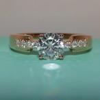 モアサナイト ダイヤモンド 0.5カラット ピンクゴールド ダイヤモンド 18k オーダーリング 婚約指輪