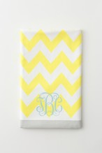 ビーチシックタオル  chevron Yellow