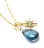 大粒宝石質「ロンドントパーズ」のネックレス