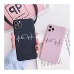 Pink black love iphone case