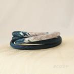 正絹 丸組の帯締め 濃藍
