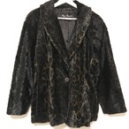 80's Leopard Fake Fur Jacket made in USA