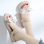 【shoes】ファッション配色切り替えサンダル18799962