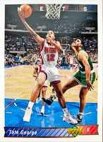 NBAカード 92-93UPPERDECK Tate George #155 NETS