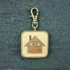 wooden inlaid charm IH-025-WT