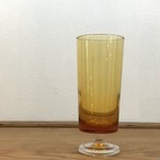 可愛い♡デザイン 足付きアンバーグラス  アンバーカラーグラス 昭和レトロ