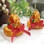 【12月24日12時~】苺のパイバスケット ネックレス/バッグチャーム