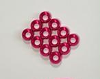 ◆M2サイズキャップボルト用 カラーアルミワッシャー12個セット  カラー / ピンク